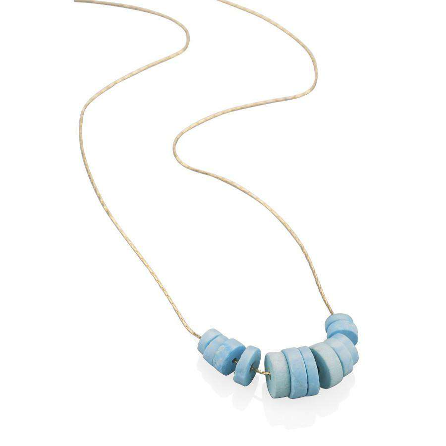 Turquoise Disks Necklace - Toosis - THE POMMIER - 3