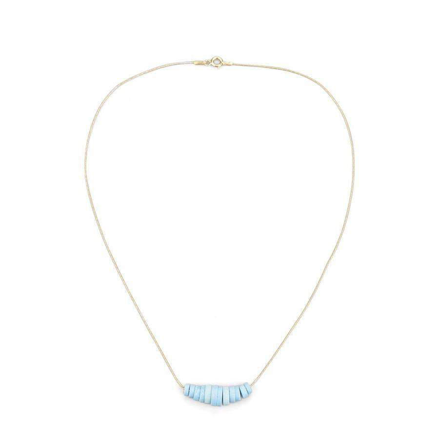 Turquoise Disks Necklace - Toosis - THE POMMIER - 1