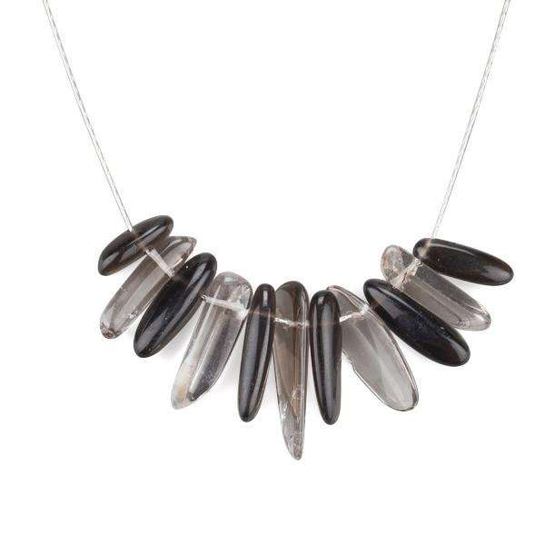 Smoky Quartz Chips Stone Necklace - Toosis - THE POMMIER - 2