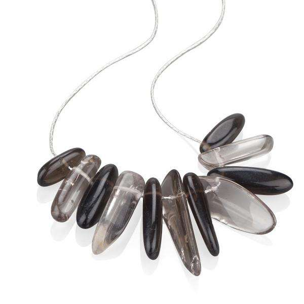 Smoky Quartz Chips Stone Necklace - Toosis - THE POMMIER - 3