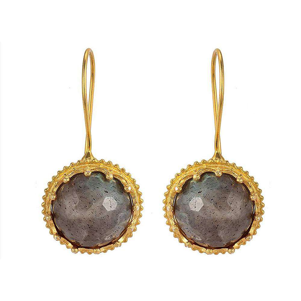 Labrodorite Ball Earrings