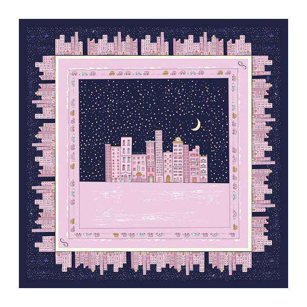 A Silent Night in the City Silk Scarf