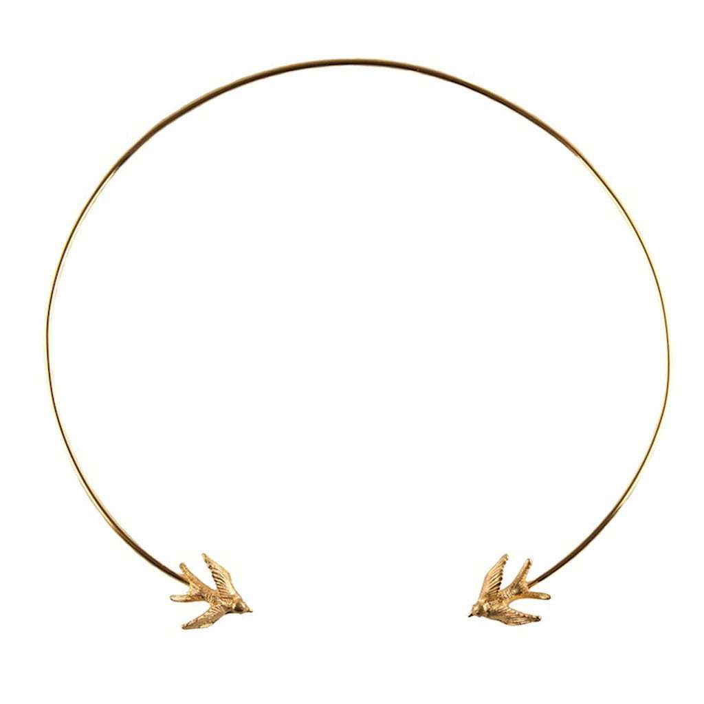 Swallow Torc Necklace