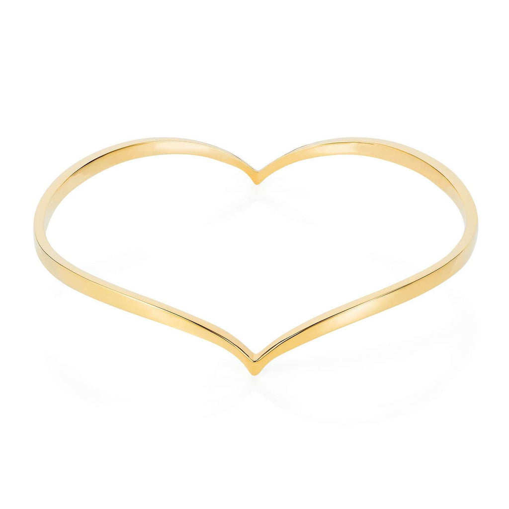 Heart Bangle - Gold - Lee Renee - THE POMMIER - 1