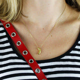 Banana Necklace - Gold - Lee Renee - THE POMMIER - 2
