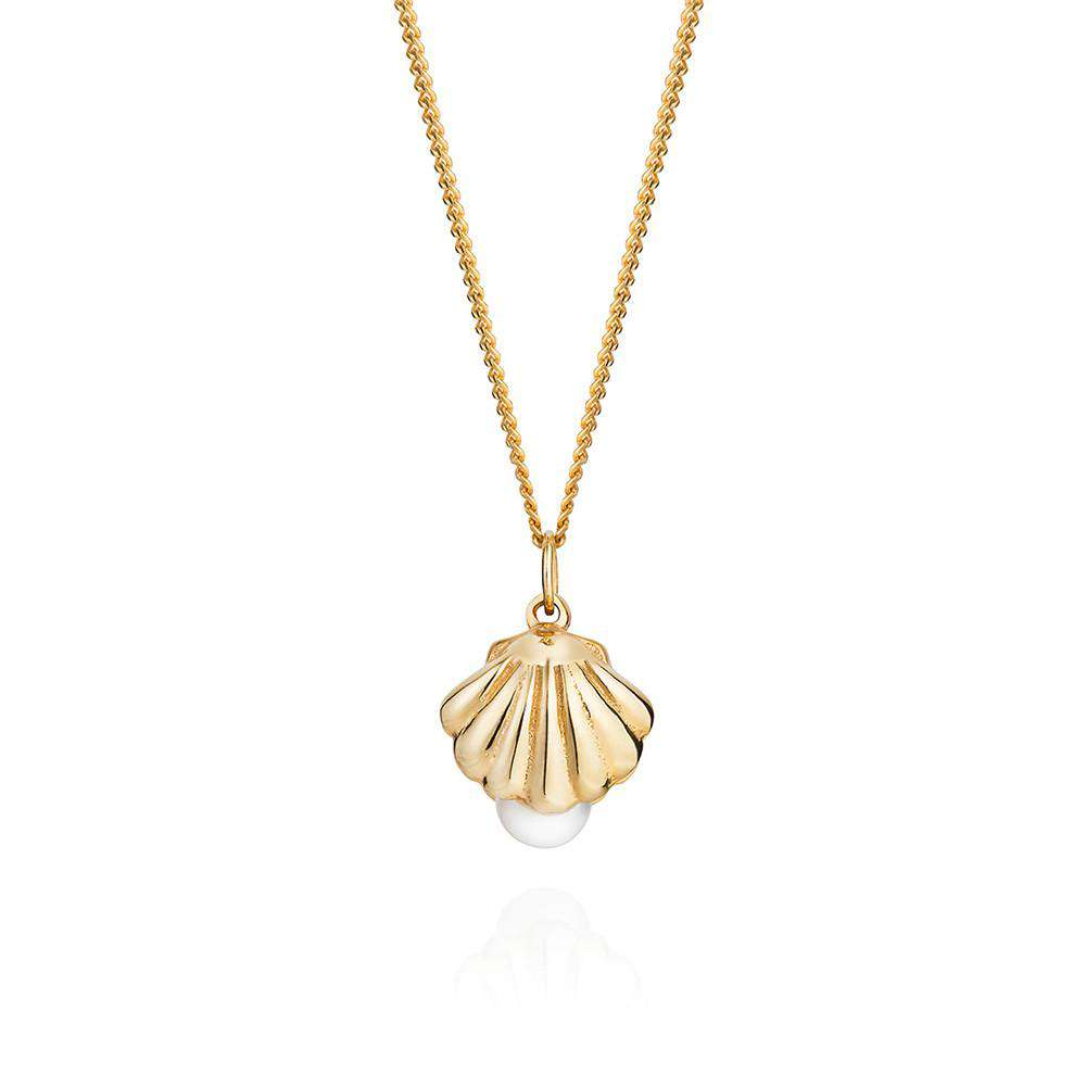 Double-Sided Shell & Pearl Necklace - Lee Renee - THE POMMIER - 1