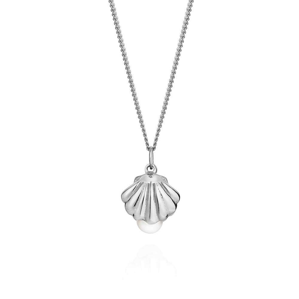 Double-Sided Shell & Pearl Necklace - Lee Renee - THE POMMIER - 2