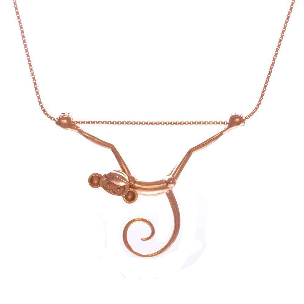 Toy Monkey Necklace - Lee Renee - THE POMMIER - 1