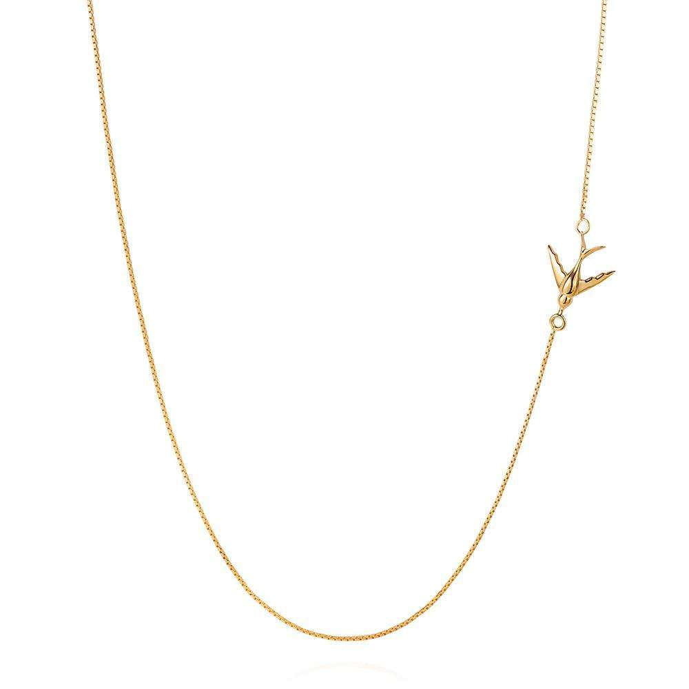 Swallow Necklace – Gold - Lee Renee - THE POMMIER - 1