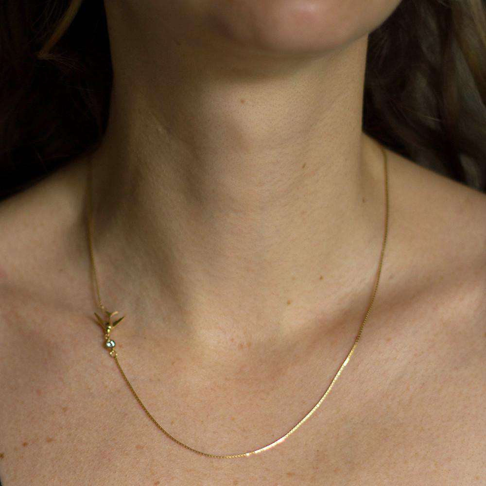 Swallow Necklace – Gold - Lee Renee - THE POMMIER - 6
