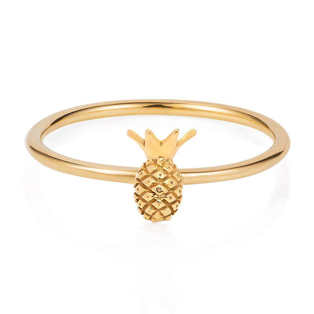 Tiny Pineapple Ring - Gold