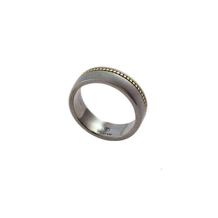 Men's Ring - Gold & Oxydised Silver - Lee Renee - THE POMMIER - 1