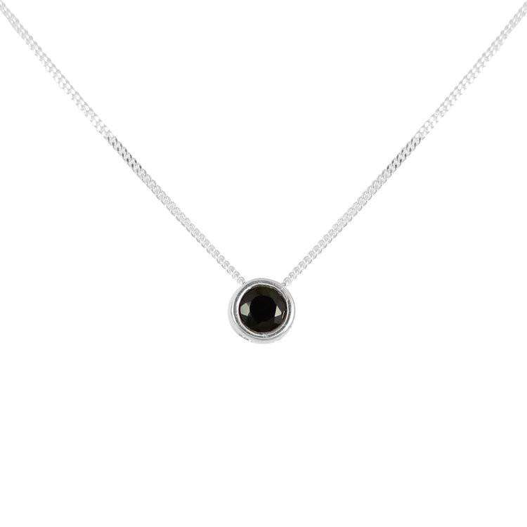 Black Spinnel Brilliant Cut Necklace - Lee Renee - THE POMMIER - 2