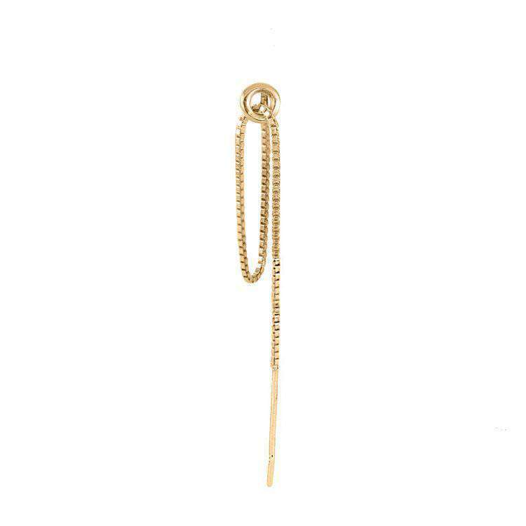 Hoop & Chain Single Earring - Lee Renee - THE POMMIER - 1