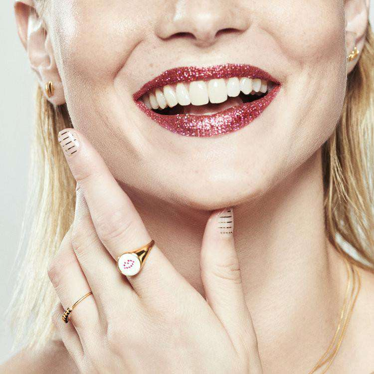 Ruby Lip Signet Ring - Lee Renee - THE POMMIER - 3