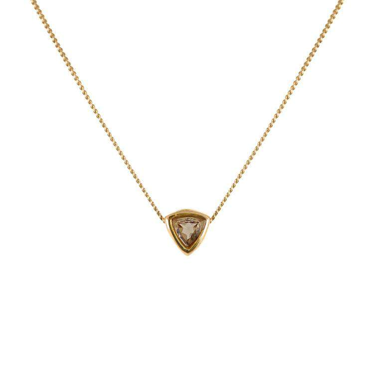 Smoky Quartz Trillion Cut Necklace - Lee Renee - THE POMMIER - 1
