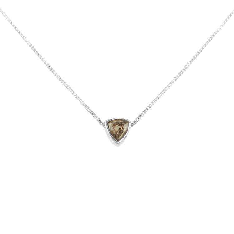 Smoky Quartz Trillion Cut Necklace - Lee Renee - THE POMMIER - 2