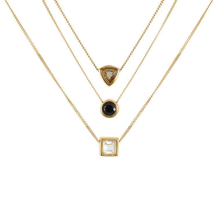 Smoky Quartz Trillion Cut Necklace - Lee Renee - THE POMMIER - 3