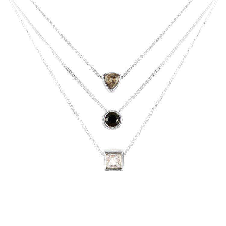 Smoky Quartz Trillion Cut Necklace - Lee Renee - THE POMMIER - 4