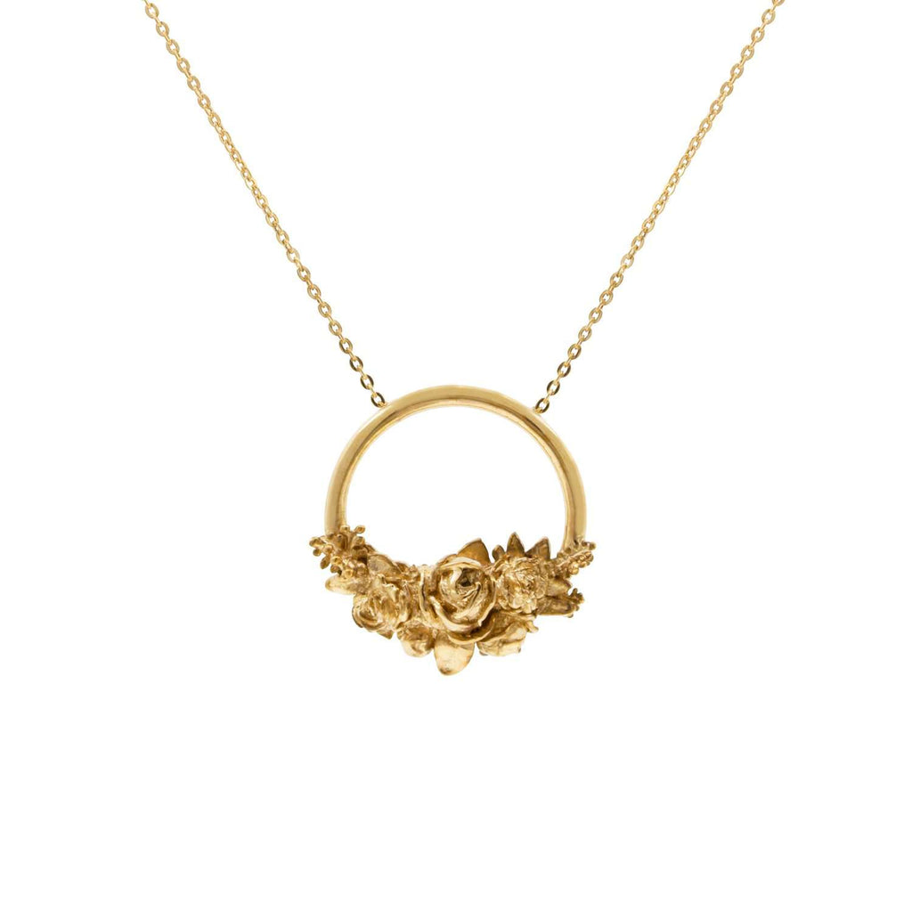 Rose Halo Necklace - Gold/Silver/Rose Gold