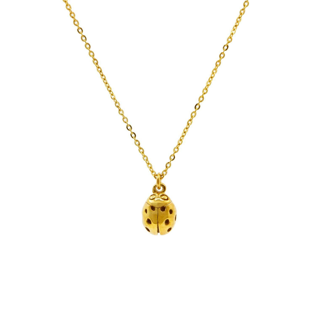 Ladybird Necklace (wings closed) – Gold/Silver/Rose Gold