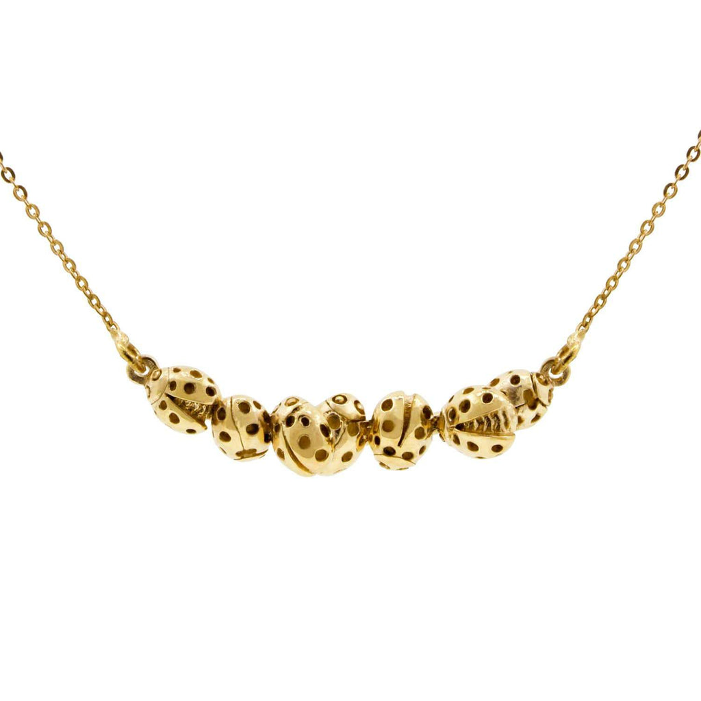 Loveliness of Ladybirds Necklace – Gold/Silver/Rose Gold