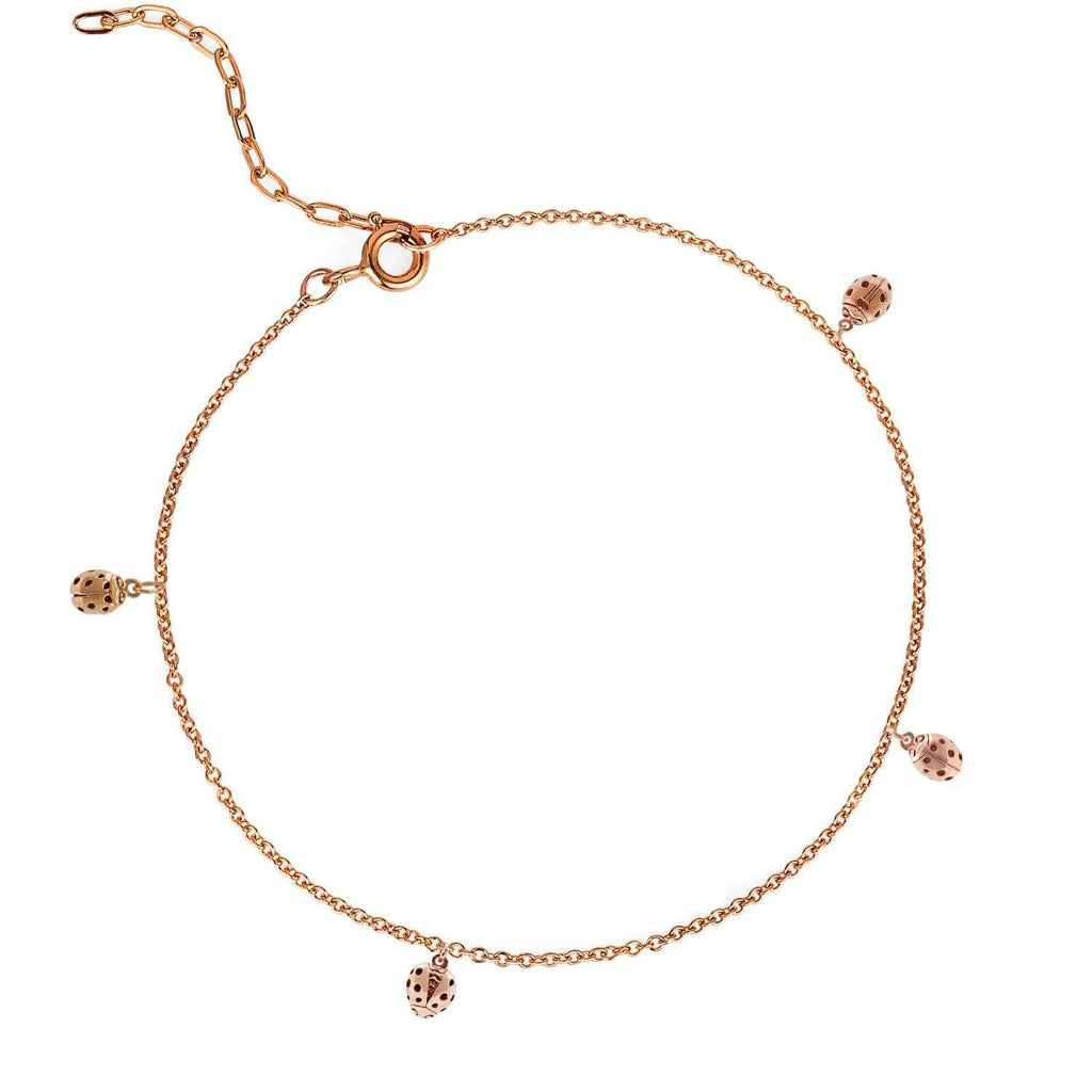 Loveliness of Ladybirds Bracelet - Rose Gold/Silver/Gold