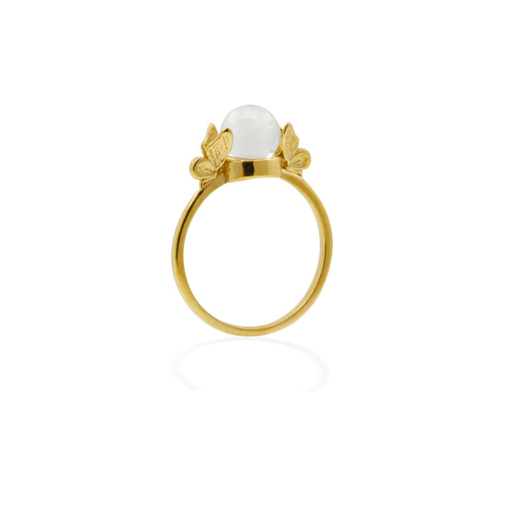 Butterfly Quartz Ring - Gold/Silver