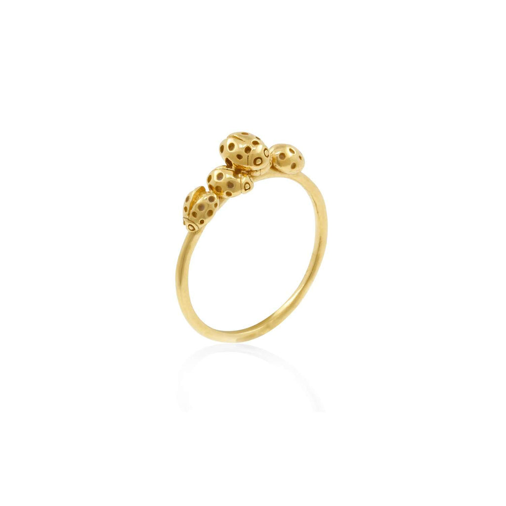 Loveliness of Ladybirds Ring - Gold/Rose Gold/Silver