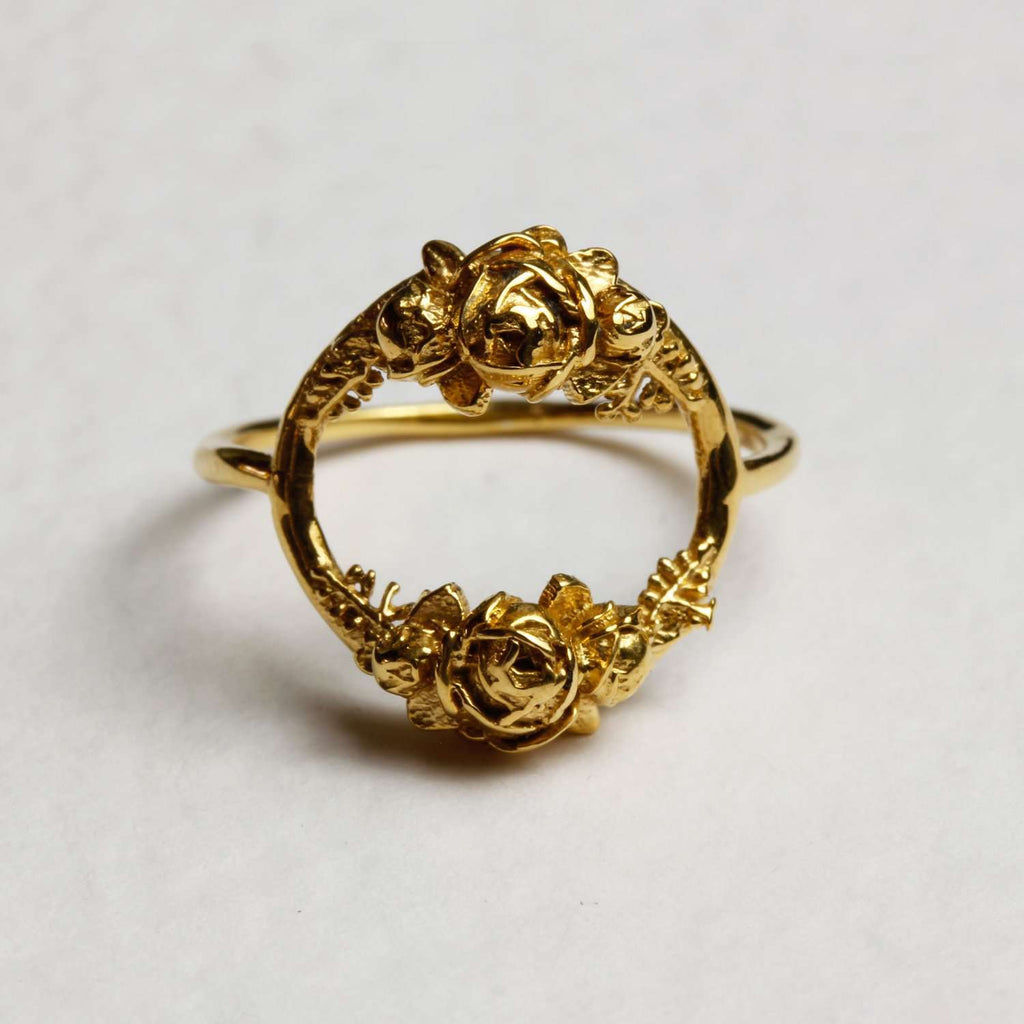 Rose Halo Ring- Gold/Silver/Rose Gold