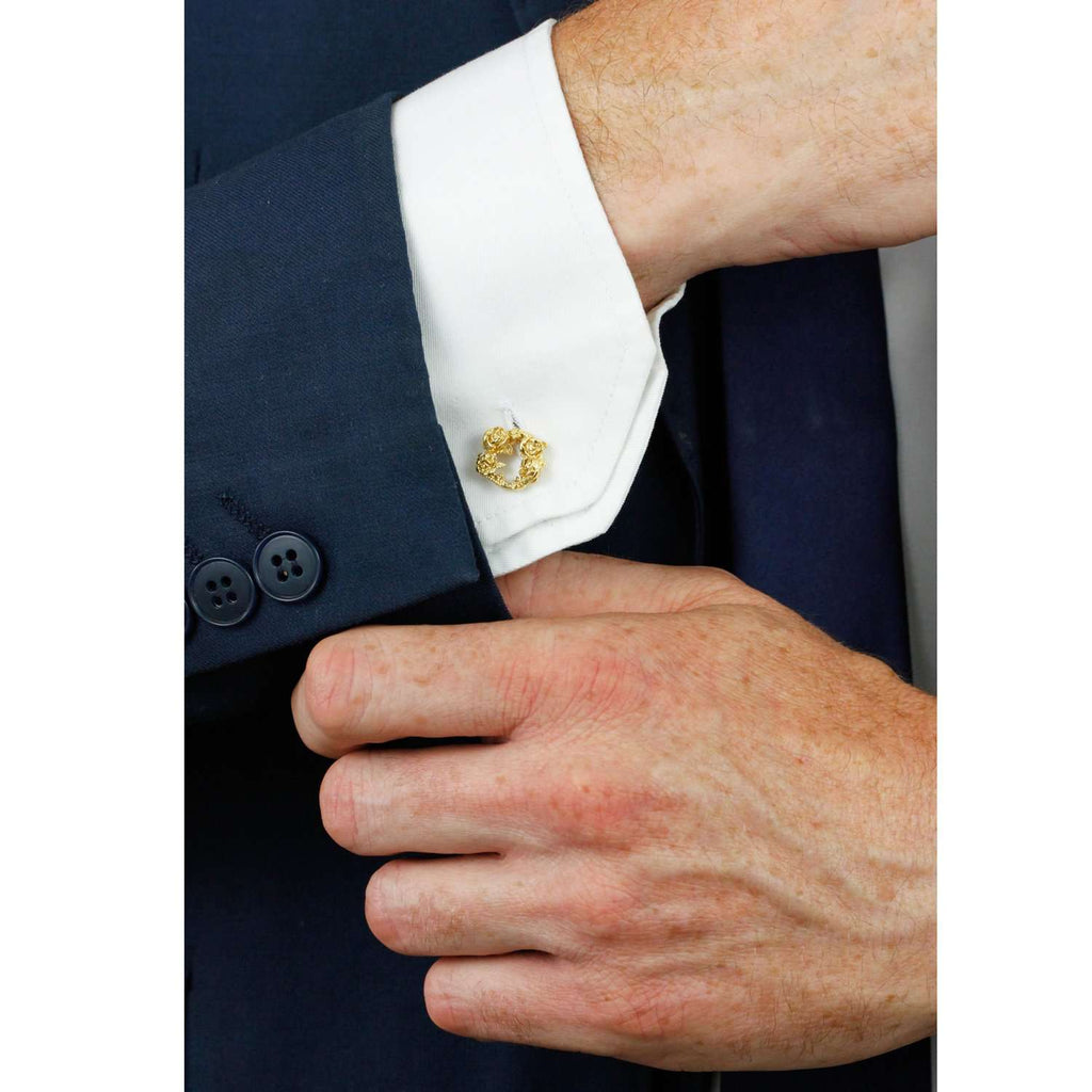 Rose Halo Cufflinks - Gold/Silver/Rose Gold