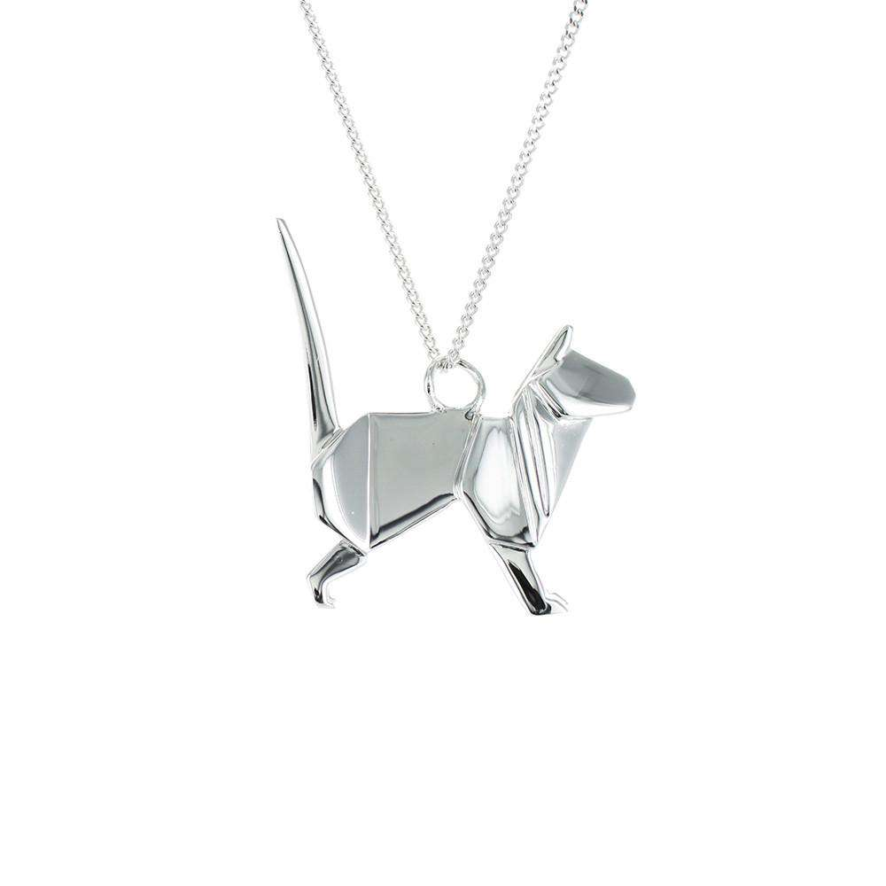 Cat Necklace - Origami Jewellery - THE POMMIER - 2