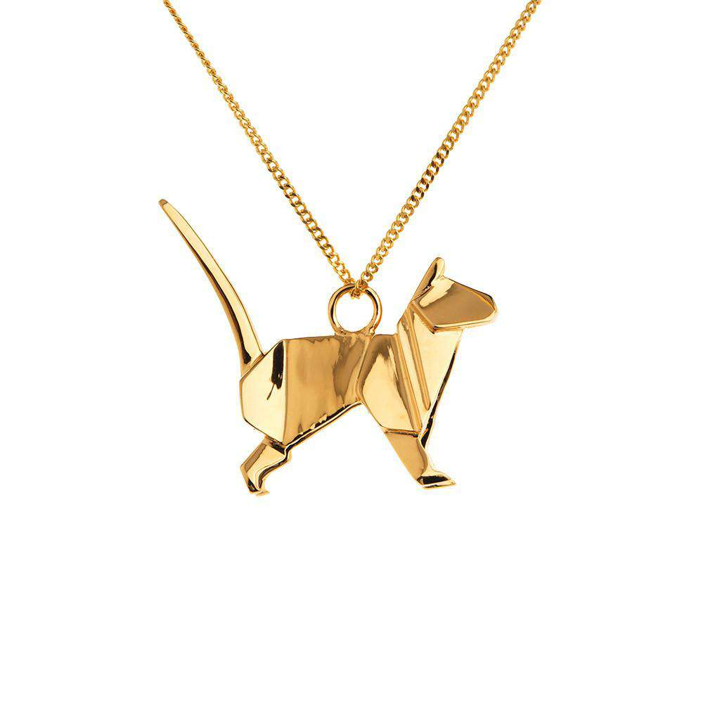 Cat Necklace - Origami Jewellery - THE POMMIER - 4