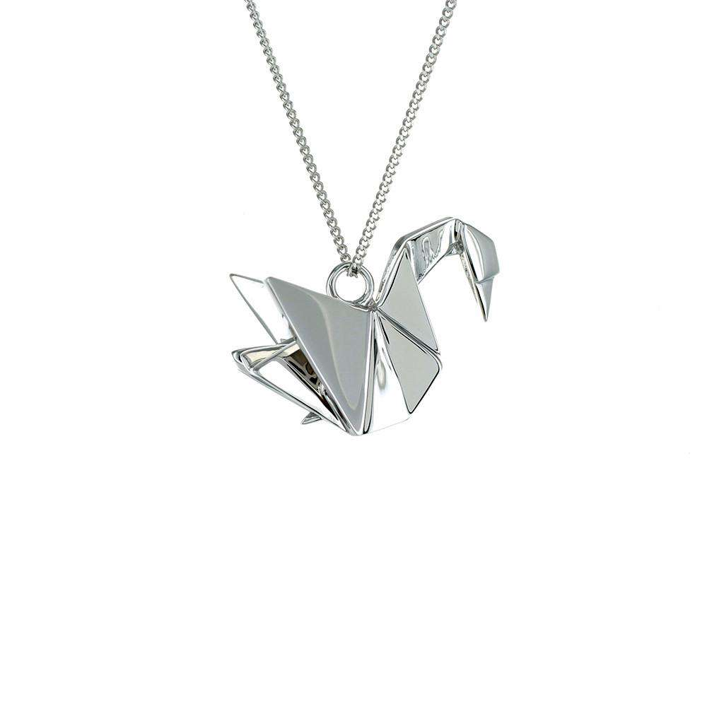 Swan Necklace - Origami Jewellery - THE POMMIER - 4