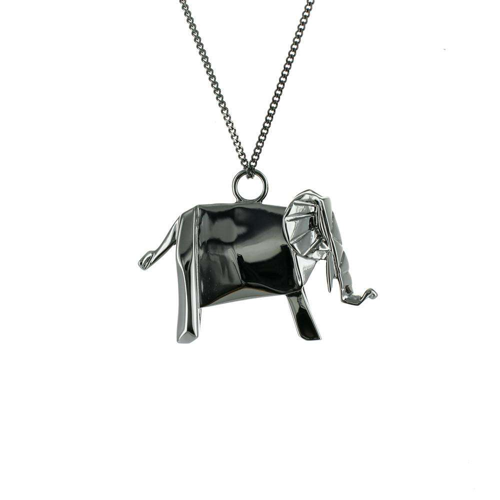 Elephant Necklace - Origami Jewellery - THE POMMIER - 2