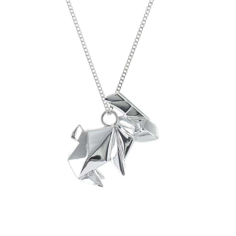 Rabbit Necklace - Origami Jewellery - THE POMMIER - 1