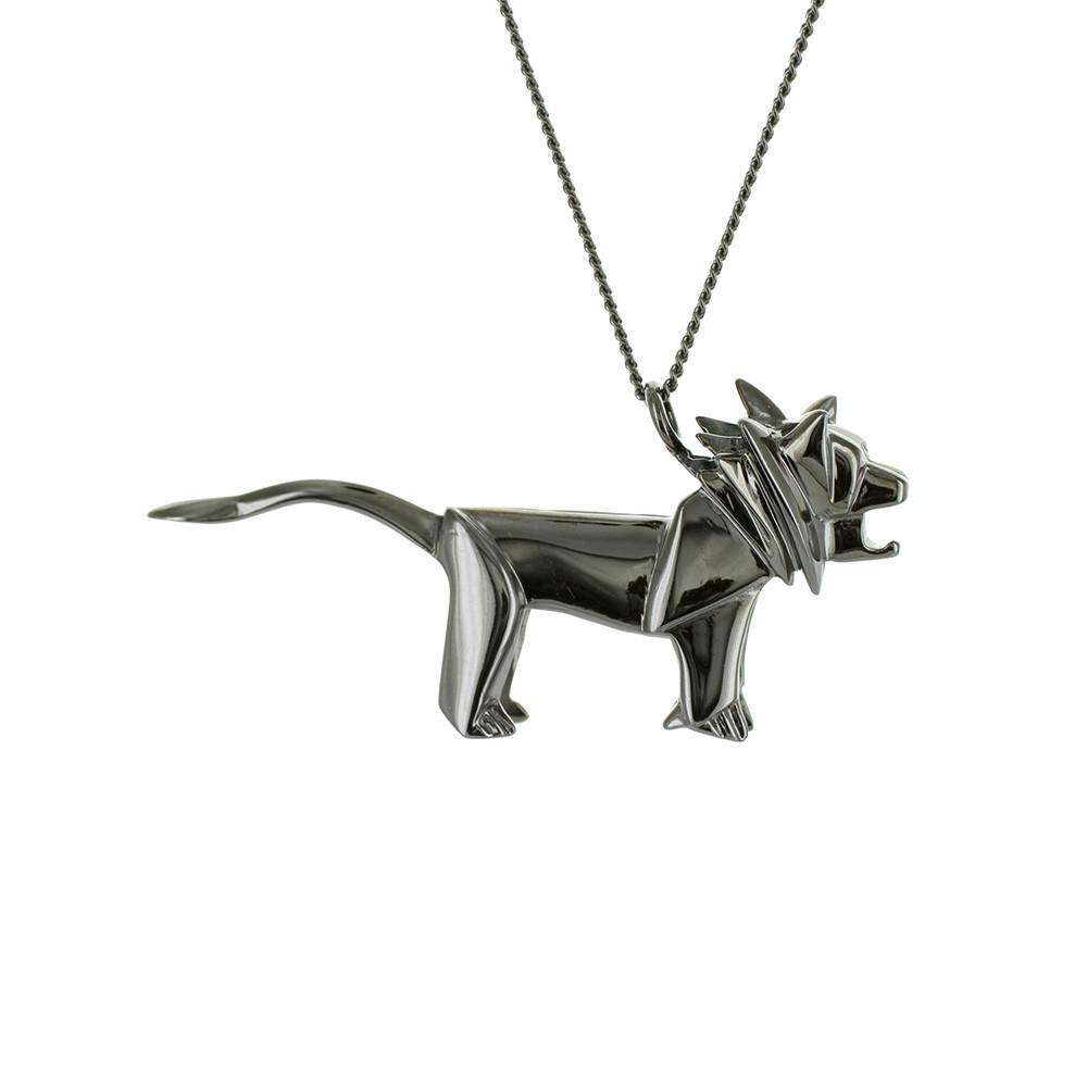 Lion Necklace - Origami Jewellery - THE POMMIER - 1