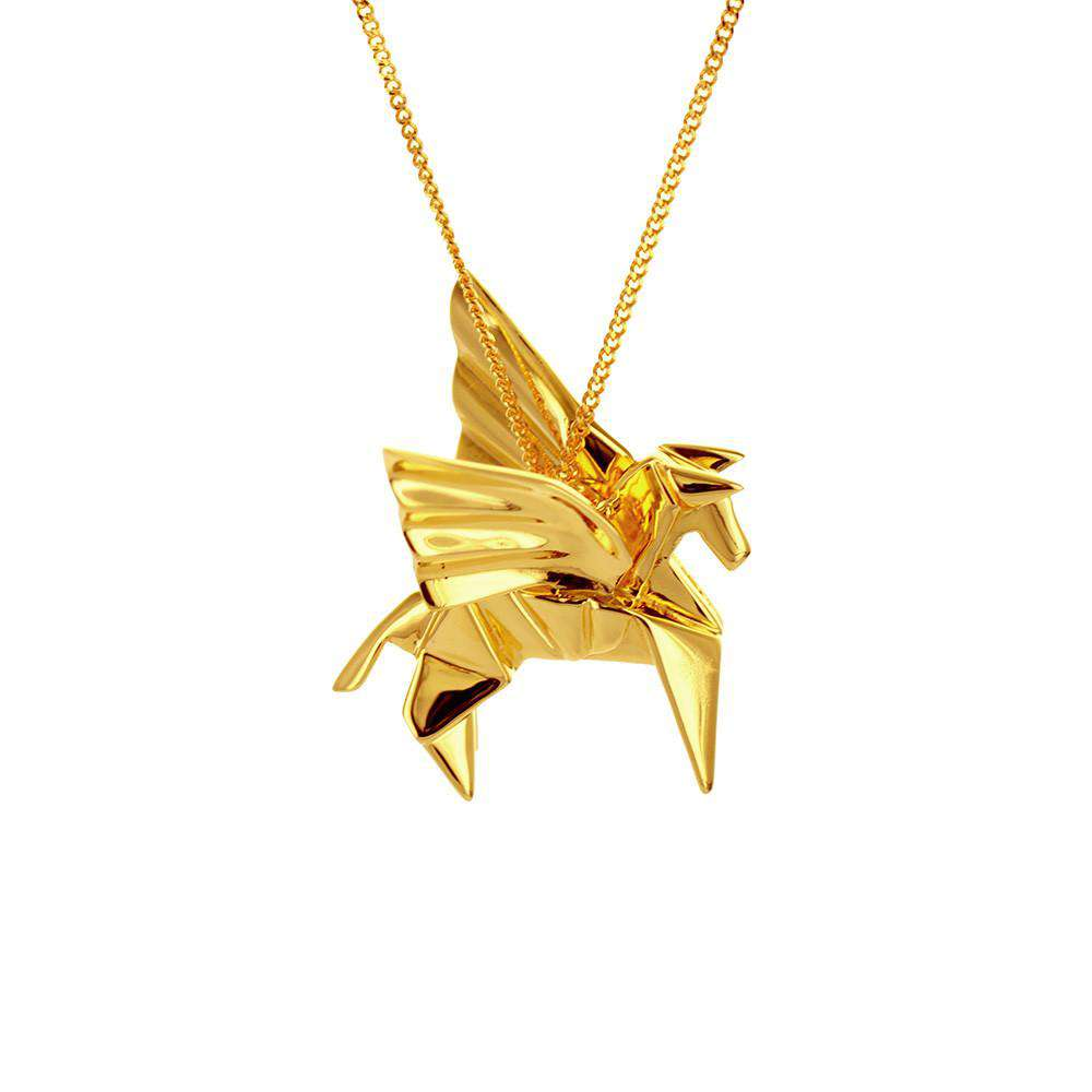 Pegasus Necklace - Origami Jewellery - THE POMMIER - 2
