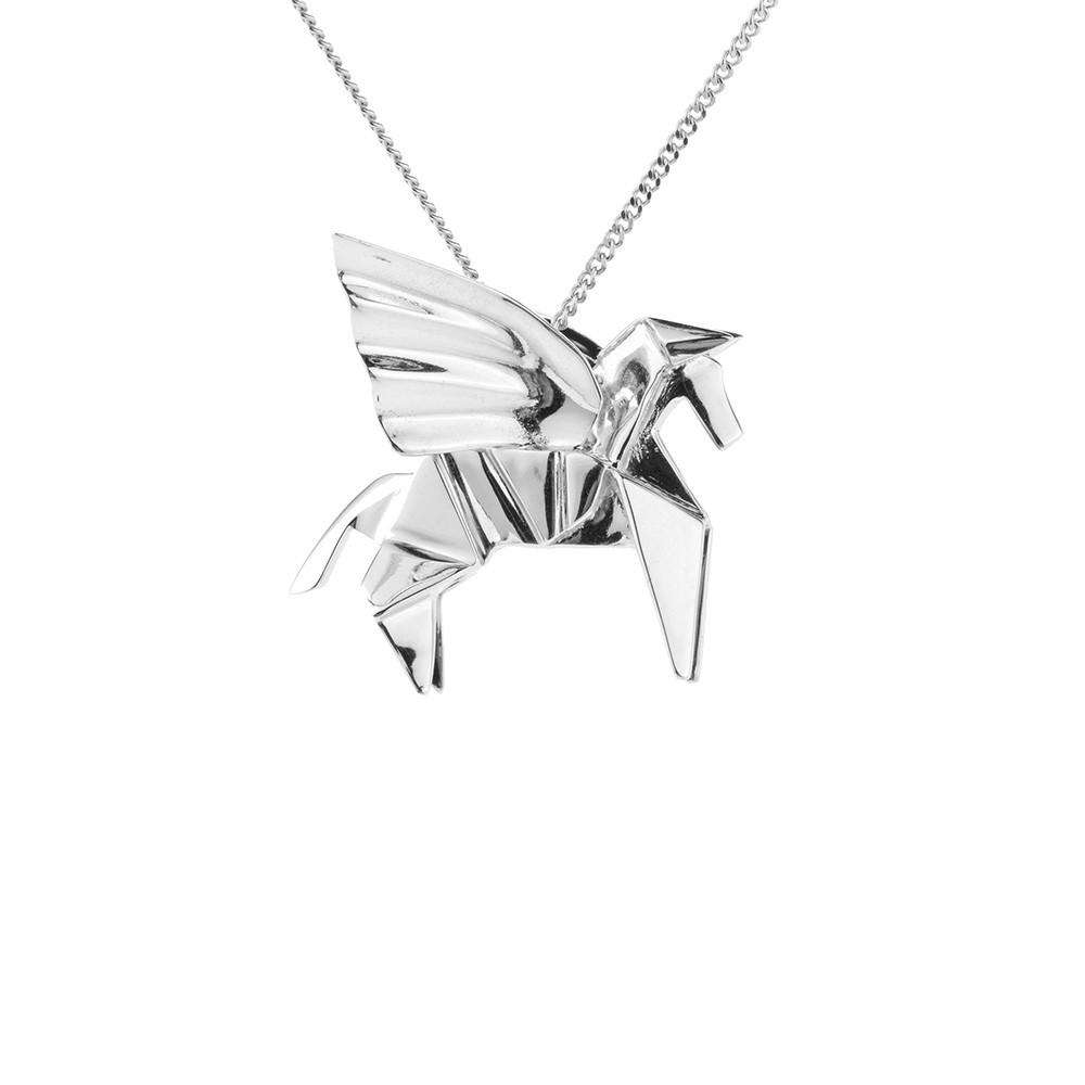 Pegasus Necklace - Origami Jewellery - THE POMMIER - 4