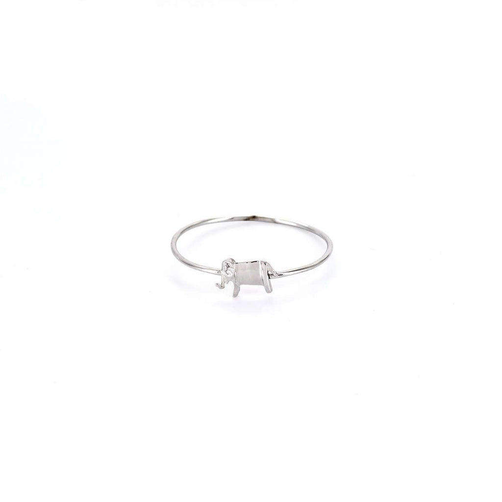 The Elephant Silver Stacking Ring