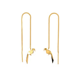The Parrot Gold Chain Earrings