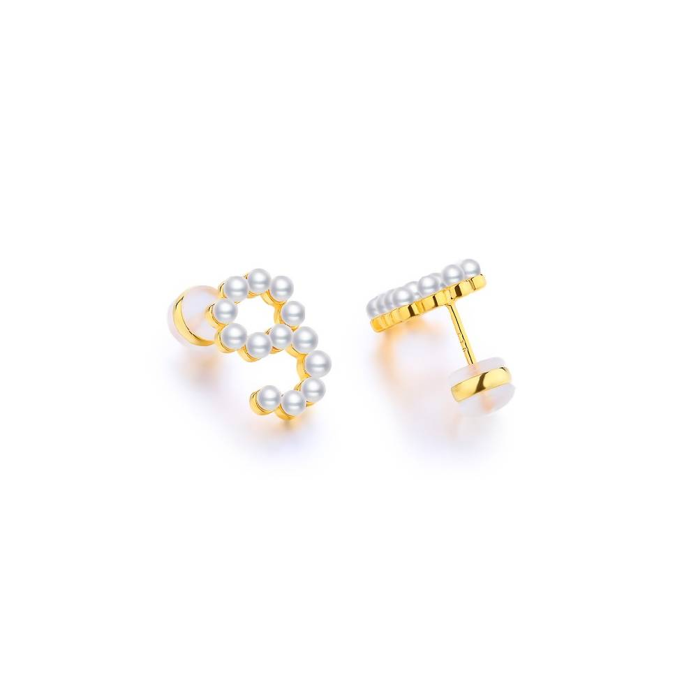 925 Sterling Silver Stud Earrings - Number 9