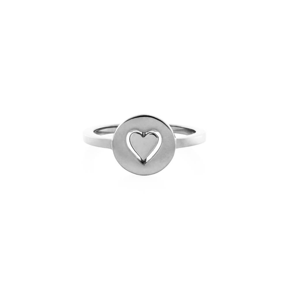Personalised Total Eclipse Heart Spinner Ring