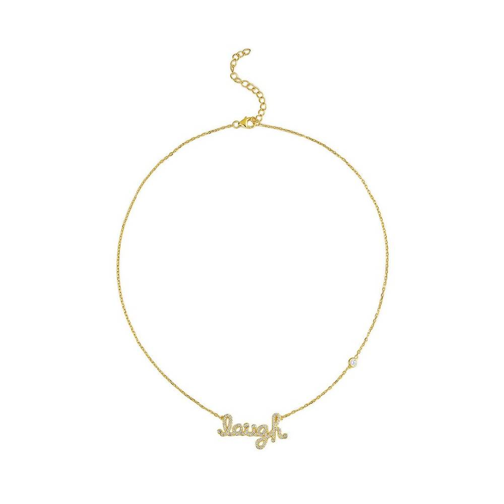 'Laugh' Gold Plated 925 Sterling Silver Necklace