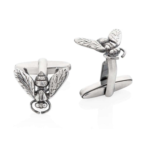 Personalised Silver Facett Initial Cufflinks