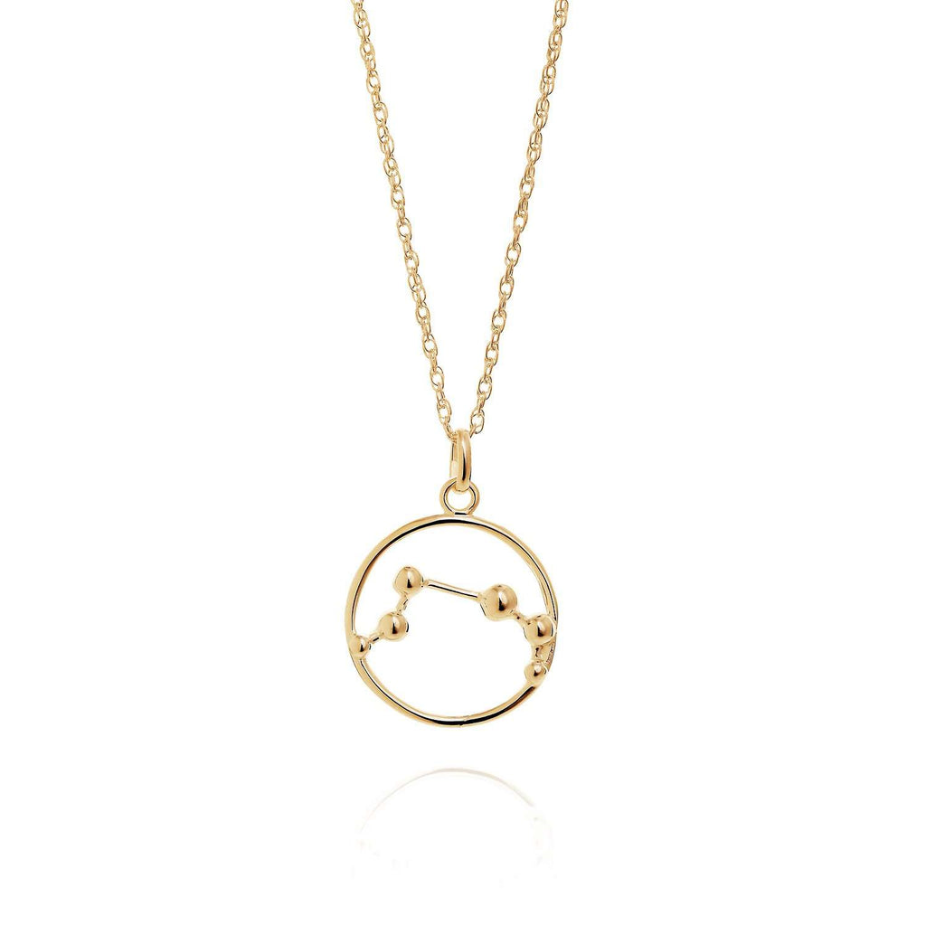 Gold Aries Astrology Necklace