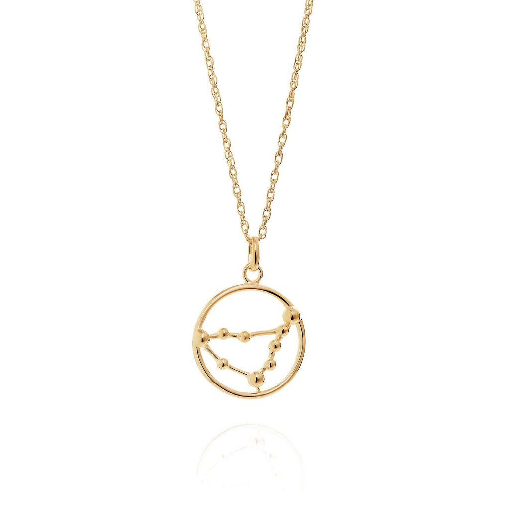 Gold Capricorn Astrology Necklace
