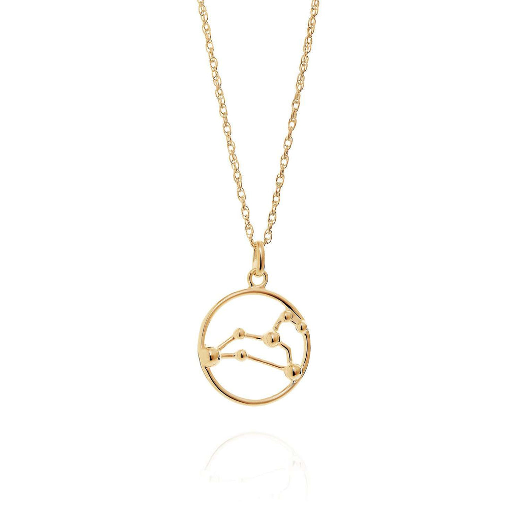 Gold Leo Astrology Necklace