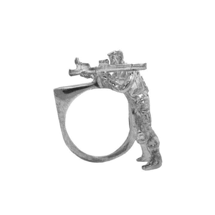 Soldier Rocket Gun Ring - Gisele Ganne - THE POMMIER - 1