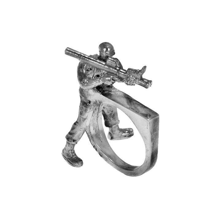 Soldier Rocket Gun Ring - Gisele Ganne - THE POMMIER - 2
